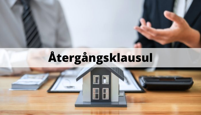 Återgångsklausul bostad