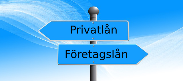 privatlån istället för företagslån